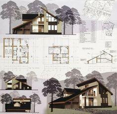 7 Modern House Plans Samples – Modern Home Concept Board Architecture, Architecture Presentation Board, Architecture Sketchbook, Architecture Plan, Amazing Architecture, Presentation Boards, Interior Architecture, Archi Design, 3d Home