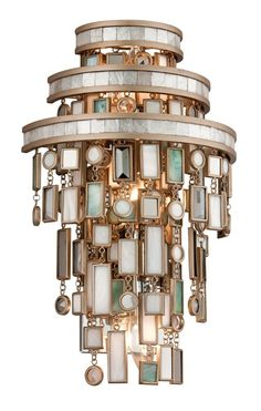 South Shore Decorating: Corbett Lighting 142-13 Dolcetti Transitional Crystal Wall Sconce CB-142-13
