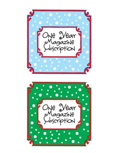 Cute printable label if you give someone a magazine subscription