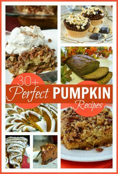30+ perfect pumpkin recipes for Halloween and Thanksgiving ... or just any time you fancy pumpkin :-) @Maaike Boven make lists ... #food