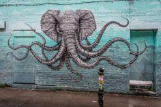 Trippy elephant octopus