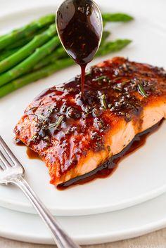 Balsamic-Glazed Salmon | 23 Easy Five-Ingredient Dinner Recipes