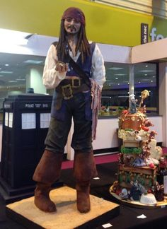 The cake is 5ft 5in (1m 65cms) tall. | Someone Has Baked A Lifed-Sized Johnny Depp Cake
