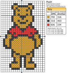 Winnie The Pooh Graph to make a C2C Afghan