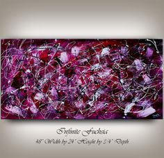 """Infinite Fuchsia"" - 48""x24"" of deep color hues and depth of thought."