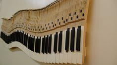 Piano Keys Wall Art by StilwellPianos on Etsy