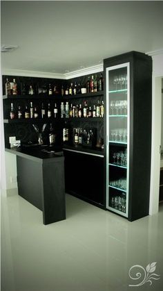Home Bar Rooms, Home Bar Areas, Diy Home Bar, Home Bar Decor, Home Theater Rooms, Billard Bar, Home Bar Counter, Home Bar Plans, Small Bars For Home