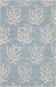 Love this beachy coral reef rug