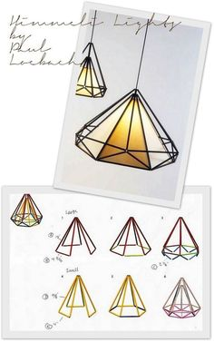 WABI SABI Scandinavia - Design, Art and DIY.: Paul Loebach's design is re-use of tradition Geometric Decor, Geometric Shapes, Do It Yourself Decoration, Deco Luminaire, Scandinavia Design, Diy And Crafts, Paper Crafts, Clever Diy, Diy Art