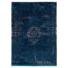 vintage vloerkleed Fading World - Medaillon | Blue Night 8254