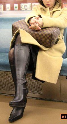 熟女ブーツ画像