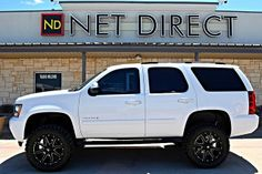 Find your dream lifted truck, SUV, or Jeep. Our lifted Ford trucks and Jeeps for sale go fast! Suv Trucks, Lifted Ford Trucks, Cool Trucks, Chevy Trucks, Lifted Chevy Tahoe, New Chevy Silverado, Chevrolet Colorado, Chevrolet Tahoe, Pickup Trucks