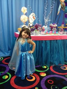 My happy princess at her 4th birthday party, Frozen inspired