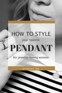 how to style pendant stinusit