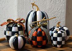 Black and White Pumpkin and Mackenzie Childs Ribbon | eBay