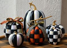 Black and White Pumpkin and Mackenzie Childs Ribbon | eBay