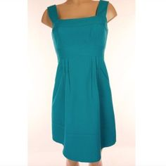"""NANETTE LEPORE Sz 4 Teal Cotton Sleeveless Dress NANETTE LEPORE Sz 4 Green Teal Cotton Sleeveless Textured Zip Up Dress NWOT ✨ Figure-enhancing seams define a feminine dress with a framed bodice, wide straps and a pleated skirt. Back zip. Approx. length from shoulder to hem: 35"""". Lined. Length 35"""" Bust 32-34 Nanette Lepore Dresses"""