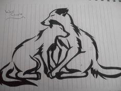 Afbeeldingsresultaat voor wolf drawing