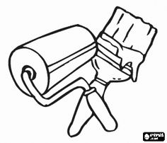 Tools To Color Pictures Painting Coloring Page Craft Items - Coloring Page Ideas Super Coloring Pages, Coloring Pages To Print, Coloring Books, Brush Tattoo, Drawing School, Name Card Design, Cross Stitch For Kids, Applique Patterns, To Color