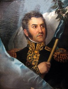 Today in History - July 1822 - Secret meeting of Simon Bolivar (Venezuelan military and political leader) Jose de San Martin (Military General fighting for Latin America's independence from Spain) Mexican American, American War, America Independence, Argentina Flag, Today In History, Hispanic Heritage, Jean Baptiste, Political Leaders, Latin America