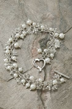 Blessed Bracelet with Freshwater Pearls – Celebrate Faith $89.00