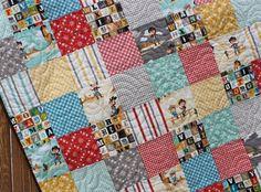 Western Cowboy Baby Quilt Sasparilla Cowgirl Handmade Alphabet Blanket