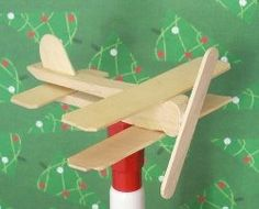 Clothes pin airplane craft