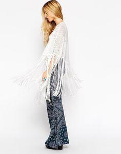 Image 4 ofASOS Beautiful Embellished Poncho Kimono