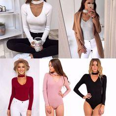 d0cd5a6361f Girl Jumpsuit Stretch Bodysuit Ladies Blouse Body Leotard Top Sweatshirt T- Shirt Cotton Jumpsuit