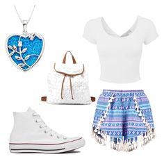 """School Outfit 37"" by emilyolson2019 on Polyvore featuring Boohoo, Converse and Charlotte Russe"