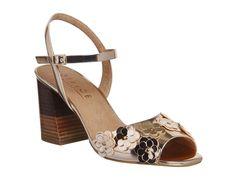 f42eab0258a7 Office Maisy Flower Applique Sandals Rose Gold Mirror - Mid Heels