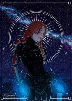 """toemiel: """" Evie Shepard [Commission] for lovely ♥ """" Mass Effect 1, Mass Effect Universe, Character Concept, Character Design, Commander Shepard, Female Armor, Fan Art, Video Game Art, Dragon Age"""