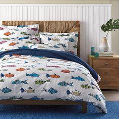 Deep Sea Percale Bedding