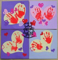 valentýn, tvoření s dětmi, prstové barvy