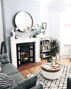 Login Monochrome living room, Victorian terrace The decoration of home is compared to an exhibit space that reveals our very o. Luxury Living Room, Home Living Room, Monochrome Living Room, Cozy Living, Living Room Grey, Victorian Terrace, Living Decor, Home And Living, Victorian Living Room