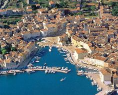 The town of Cres on the island of Cres in Croatia