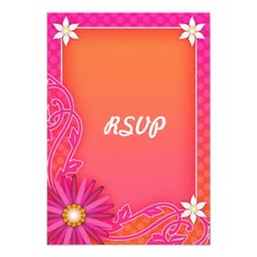 ShoppingBright Orange and Pink Floral Summer Wedding RSVP Custom Announcementsonline after you search a lot for where to buy