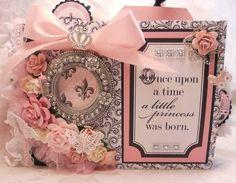 ELITE4U Teresa Collins BEBE Chic 9x6 Baby Girl Mini Album by Rina   eBay