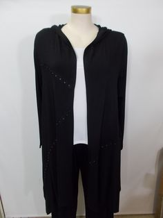 Chalet - Bamboo Black Hook Detail Bobbie Open Jacket