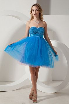 Tulle Sweetheart Modern Party Dresses - Order Link: http://www.theweddingdresses.com/tulle-sweetheart-modern-party-dresses-twdn0932.html - Embellishments: Beading , Sash , Sequin; Length: Knee Length; Fabric: Tulle; Waist: Natural - Price: 143.09USD