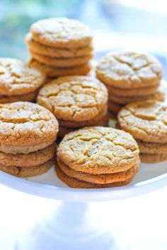Peanut Butter Crinkle Cookies! Sweet and Salty, Chewy, crackly, crunchy perfect cookie!