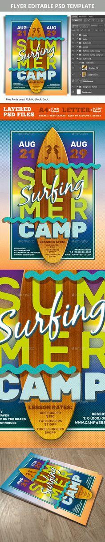 Summer Beach Party Free PSD Flyer Template -    freepsdflyer - summer camp flyer template