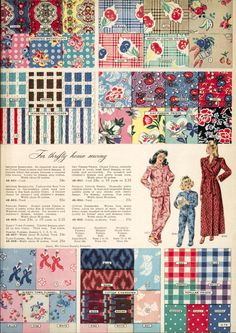 for thrifty home sewing, Simpson's Fall and Winter catalog 1945-46