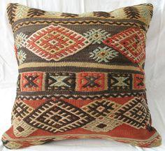Kursish H Made Fine Woven Tribal Embroidery Kilim Cushion 24'' K 517 | eBay