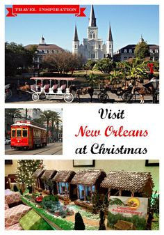 Visit New Orleans at Christmas time. The sights! The food! The beautiful weather! It's the perfect spot for a memorable couple's getaway! New Orleans travel tips. Christmas Weather, Christmas Travel, Holiday Travel, Christmas Time, New Orleans Vacation, Visit New Orleans, New Orleans Travel, Best Christmas Lights, Beautiful Christmas
