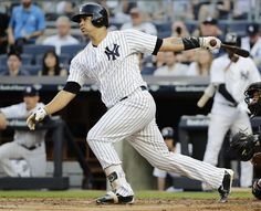 Judge, Yankees batter Orioles 16-3 for 4th straight win  -  June 10, 2017:    New York Yankees' Gary Sanchez follows through on a two-run single during the first inning of a baseball game against the Baltimore Orioles, Saturday, June 10, 2017, in New York. (AP Photo/Frank Franklin II)