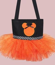 CUTE Trick or Treating bag for Mickey's Halloween Party.  But is A too old for it???