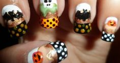 Halloween Nail Design Simple And Easy to Wear