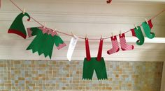 Santas elves are doing their laundry and hanging it out for you to see. Oops…
