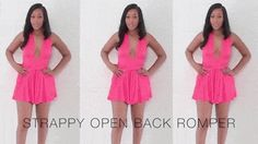 Ambre Renee looking sexy with those strappy open back romper. | Lookbook Store Fashion in Action #LBSMovingFashion